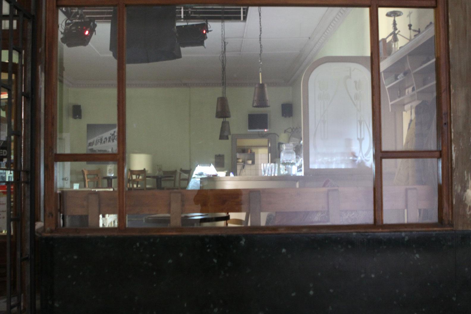 """Kulisse für den Kinofilm """"Baghdad in my Shadow"""", Nachbau des Café Abu Nawas"""